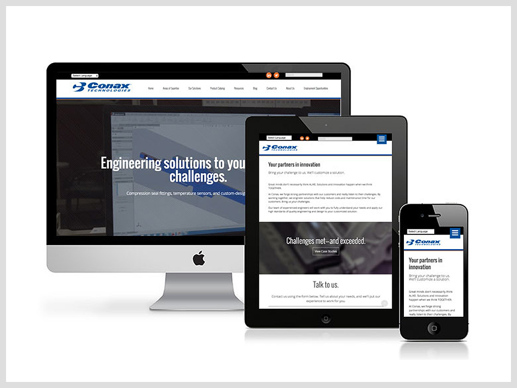 Conax Technologies Website by Manzella Marketing